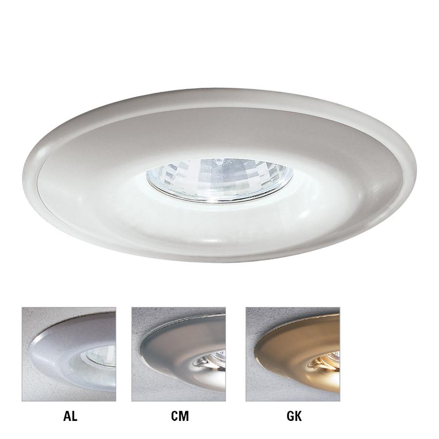 Lightolier 3 3 4″ 95mm aperture contour shower light reflector trim 316whx